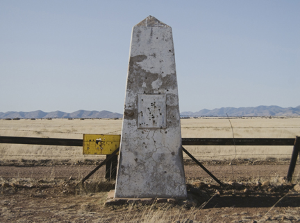 Border Monument No. 106, N 31° 19.978' W 110° 27.575', from the