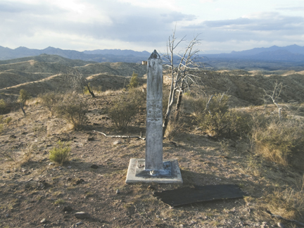 Border Monument No. 126, N 31° 19.928 ' W 111° 04.217', from the