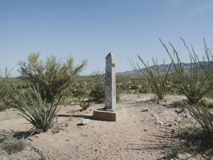 Border Monument No. 142, N 31° 31.205' W 111° 39.676', from the