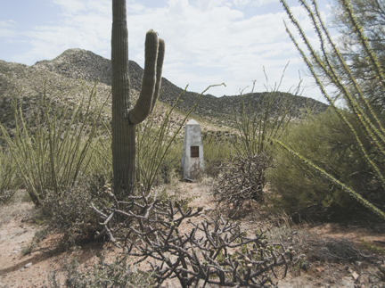 Border Monument No. 146, N 31° 35.344' W 111° 52.763', from the