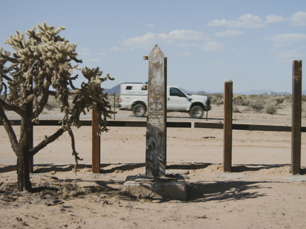 Border Monument No. 156, N 31° 44.625 ' W 112° 22.438', from the