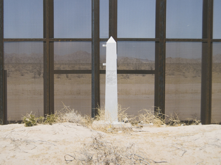 Border Monument No. 195 South, from the