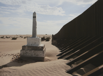Border Monument No. 244, N 32° 34.624' W 116° 37.214', from the