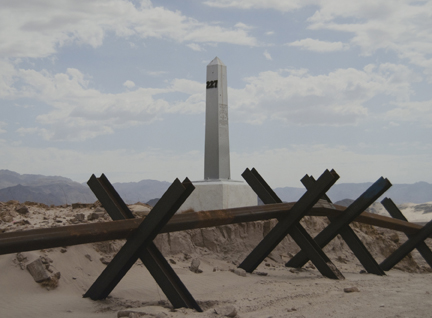 Border Monument No. 227, N 32° 38.453' W 115° 49.033', from the