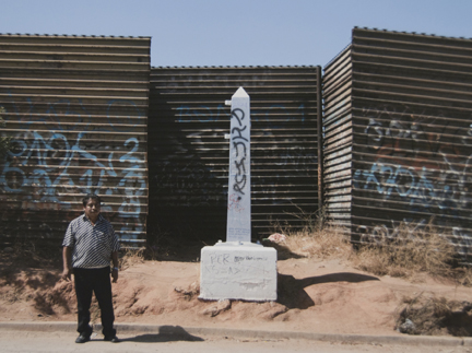 Border Monument No. 245, from the
