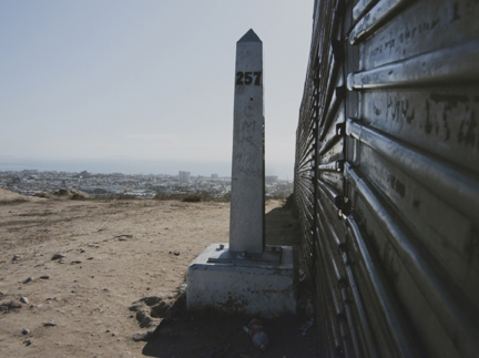 Border Monument No. 257 East, from the