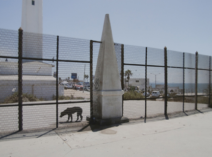 Border Monument No. 258 North, from the