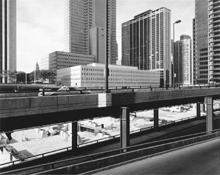 Chicago (Illinois Center, View Southwest From Walter Street and Columbus Drive)