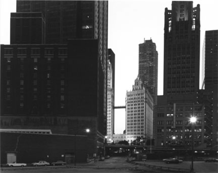 Chicago (Kinzie Street, East of Michigan Avenue, View West)
