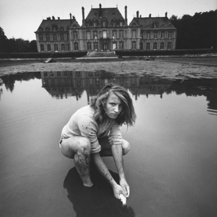 Girl Collecting Goldfish, Chateau Breteuil, France