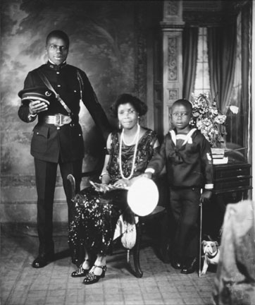 A Member of Garvey's African Legion with his Family