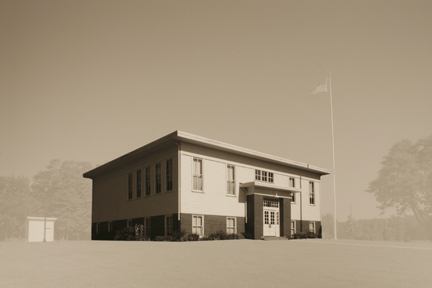 Lyles Station Consolidated School, Lyles Station, IN, from the