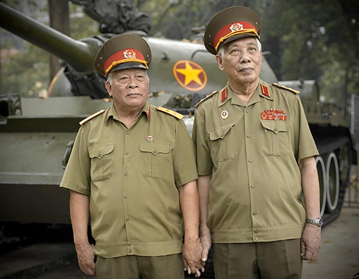 Le Nam Phong & Nguyen Van Thai, Vietnam People's Army Senior Lieutenant Colonels, from the