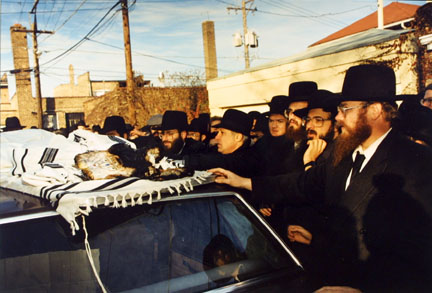 Rabbi's Good-bye to Burnt Torahs, Post-Arson Fire