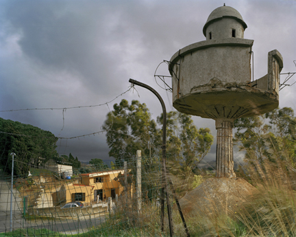 WWII Watchtower, Salice, Sicily, from the
