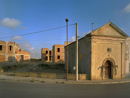 Church with Palms, Marsala, Sicily, from the