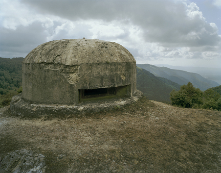 WWII Bunker, Aspromonte, Calabria, from the
