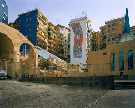Piazza, Metro Station, Naples, Campania, from the